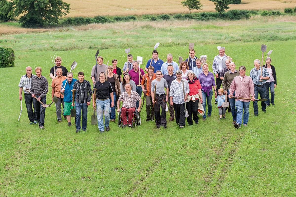 Die Bauerngemeinschaft Hamfelder Hof auf dem Weg zum ersten Spatenstich