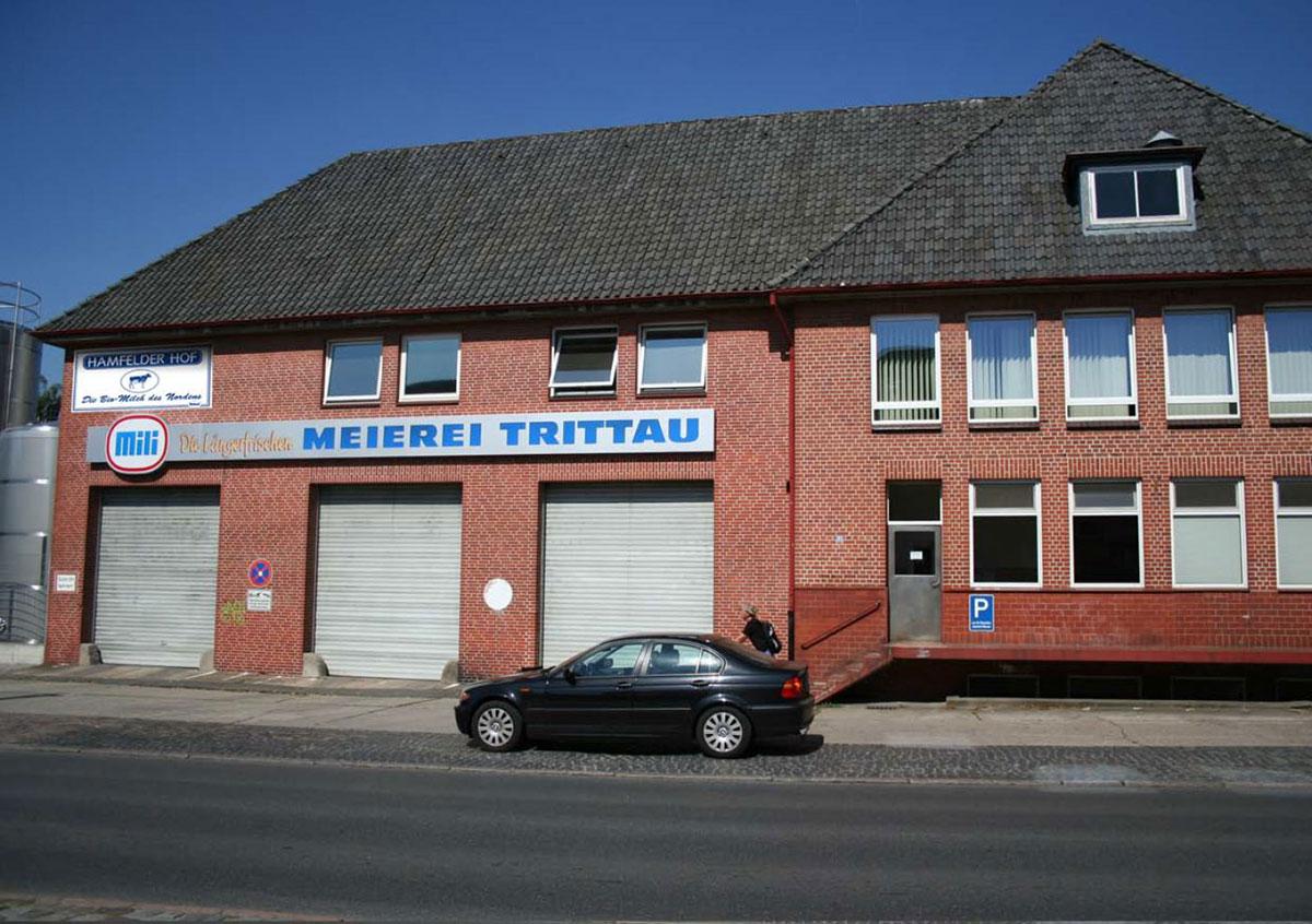 Meierei Trittau mit Schild Hamfelder Hof