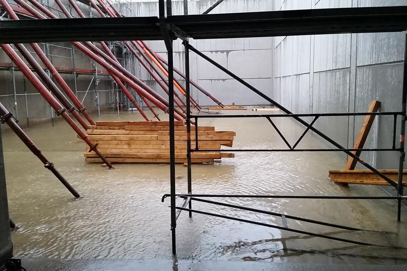 Das ist nicht etwa das neue Hallenbad Mühlenrade, sondern unser zukünftiger Kühlraum.