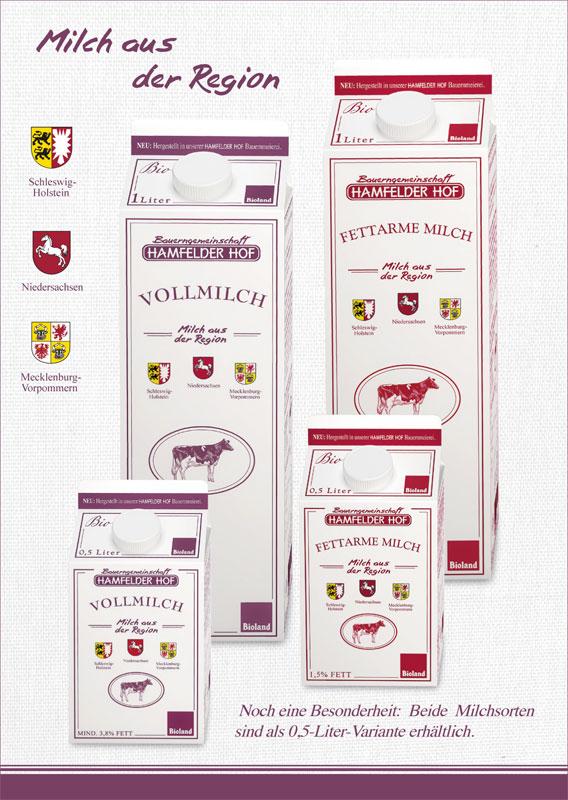 Hamfelder Hof Milch, länger haltbar