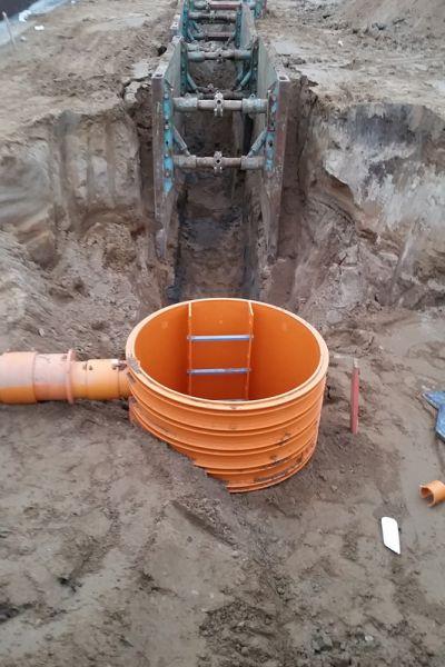 Schacht für das Prozessabwassersystem