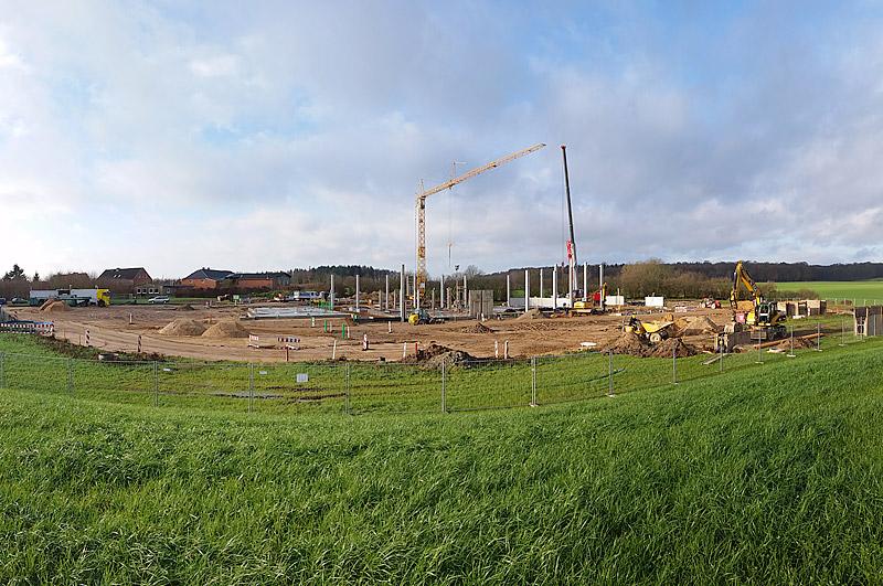Momentaufnahme, unsere Baustelle im Dezember 2014
