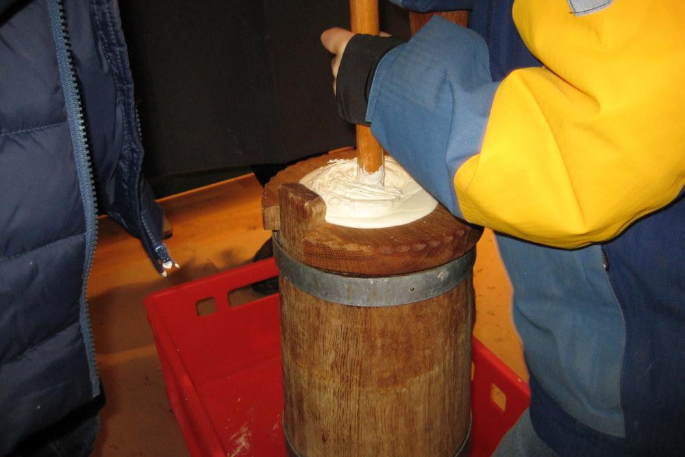 Sahnestampfen im Butterfass - ganz schön anstrengend!